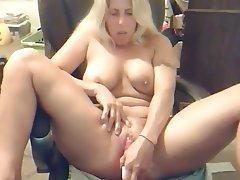 Blonde, Masturbation, MILF