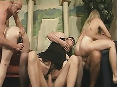 Blowjob, Group Sex, Mature, Blonde, Brunette