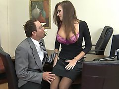 Brunette, Office, Big Tits, Boobs