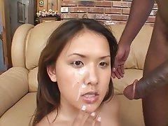 Asian, Cumshot, Facial, Interracial