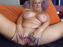 Big Boobs, Blonde, Masturbation, POV, Webcam