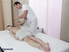 Ebony, Teen, Massage