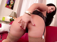 Big Ass, Big Tits, Ebony, Stockings, Masturbation
