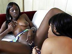 Lesbian, Latex, Lingerie, MILF, Brunette
