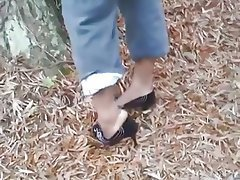 Foot Fetish, Outdoor, Stockings