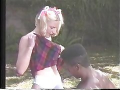 Blowjob, Interracial, Blonde