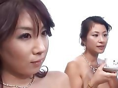 Threesome, Creampie, Japanese, MILF