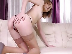 Lingerie, Masturbation, Pantyhose, Stockings