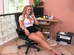 MILF, Blonde, Office, High Heels