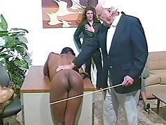 Spanking ebony black couldn't find