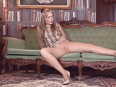 British, Masturbation, Mature, Pantyhose
